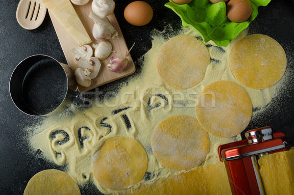 Making pasta from italian flour semolina Stock photo © Peteer