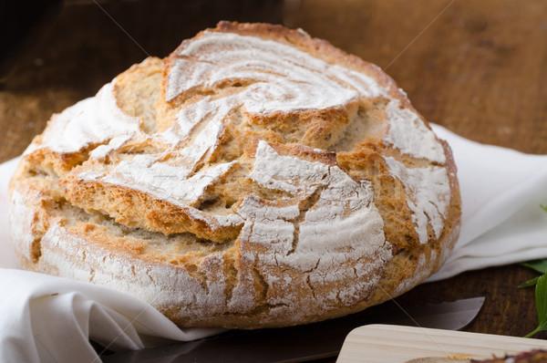 Сток-фото: домашний · деревенский · хлеб · печи · мало · помочь