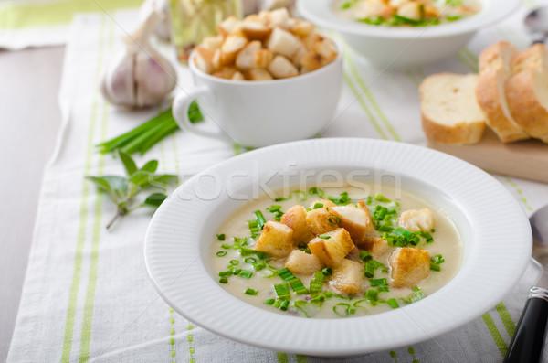 Fokhagyma leves újhagyma snidling bio vöröshagyma Stock fotó © Peteer