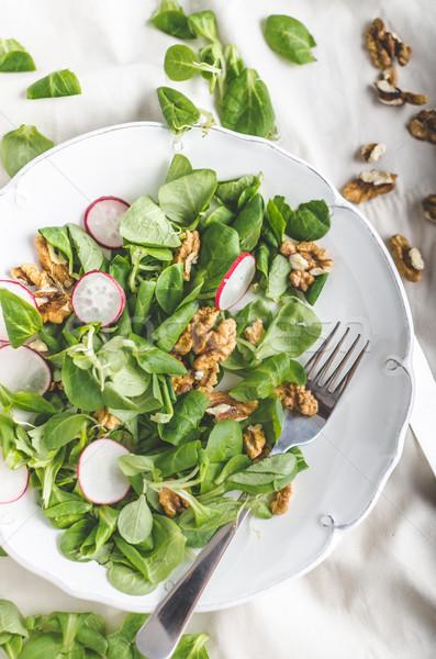 Lechuga ensalada rábano simple delicioso alimentos Foto stock © Peteer