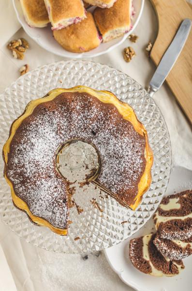 Сток-фото: творог · торт · фаршированный · домашний