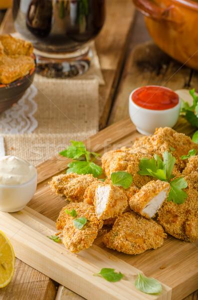 Chicken popcorn with garlic Stock photo © Peteer