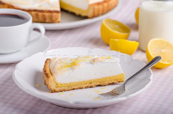 Lemon cheesecake delicious Stock photo © Peteer