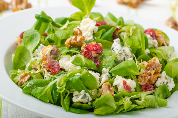 Salad with blue cheese and balsamic dressing Stock photo © Peteer