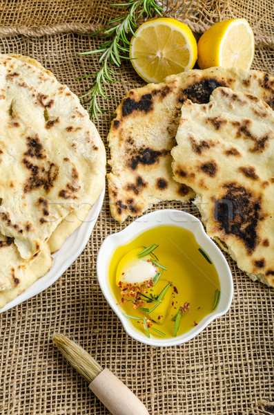 Indian bread naan Stock photo © Peteer