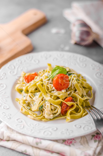 Delicious pasta with blue cheese Stock photo © Peteer