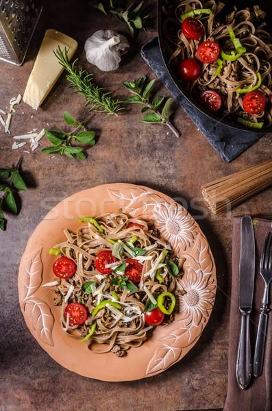 все зерна пасты сыра пармезан ресторан Сток-фото © Peteer