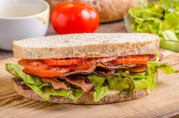 Blt sanduíche alface saudável pão comida Foto stock © Peteer