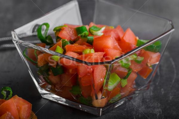 Сток-фото: французский · чеснока · тоста · растительное · Салат · продовольствие