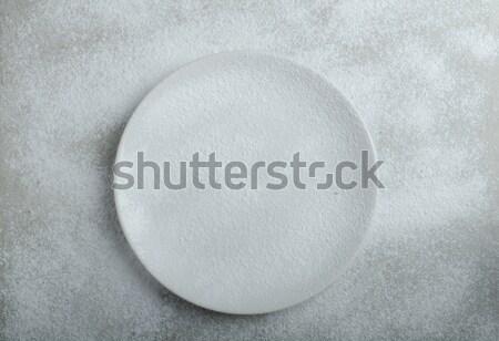 Stock fotó: Tányér · tél · idő · egyszerű · fa · kéz