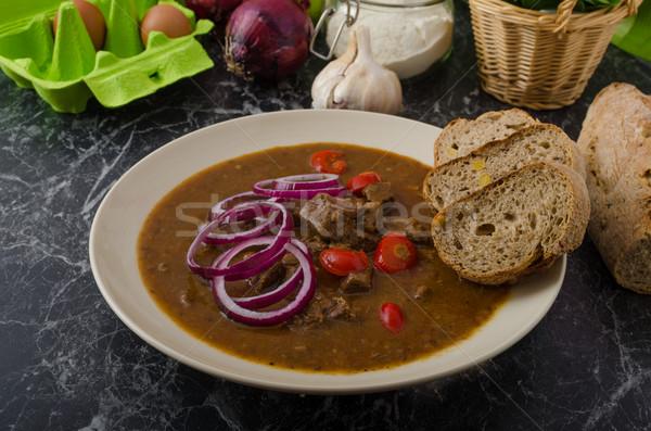 Original Czech beef goulash Stock photo © Peteer