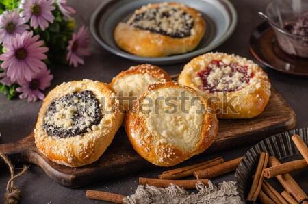 Oude stijl donuts rustiek suiker pure chocola Stockfoto © Peteer