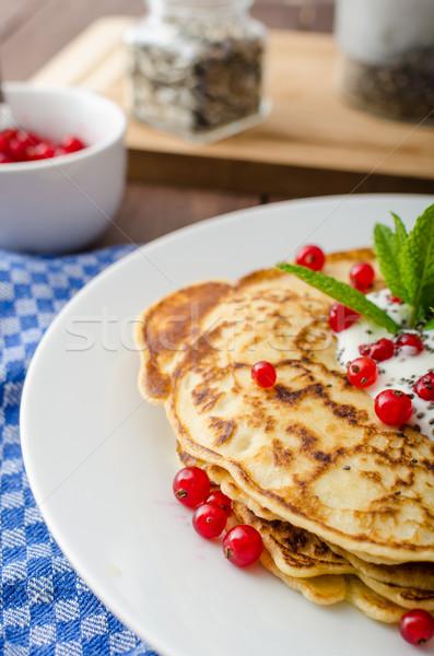 Photo stock: Maison · fruits · crème · groseille