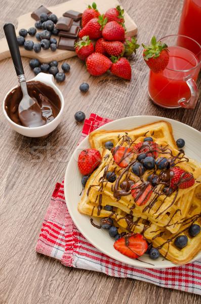 черника клубники покрытый шоколадом дома продовольствие Сток-фото © Peteer