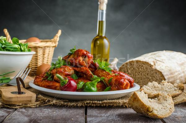 Hot kip vleugels huiselijk brood rogge Stockfoto © Peteer