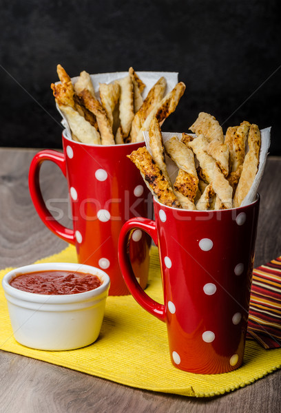 Party sticks from puff pastry Stock photo © Peteer