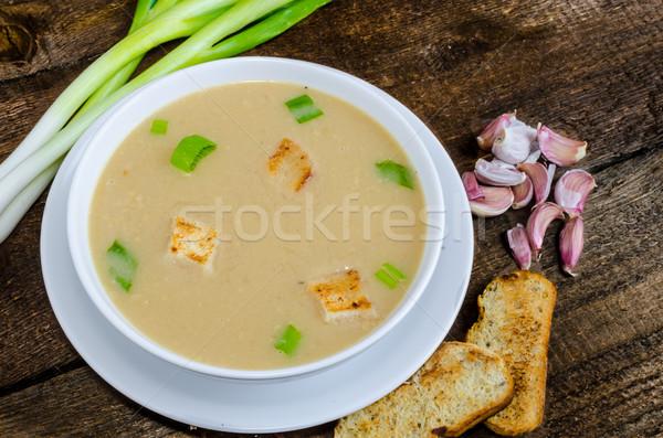 スープ ニンニク 焼いた 自然 緑 ストックフォト © Peteer