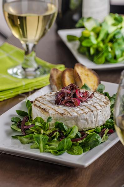 ızgara camambert salata baget gıda Stok fotoğraf © Peteer