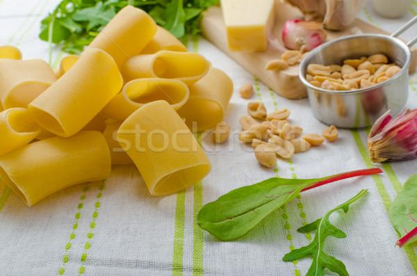 Foto stock: Alho · ervas · pesto · caseiro · comida · folha