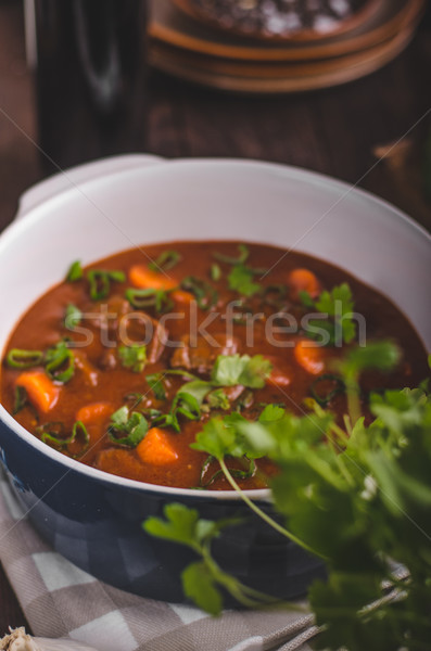 Stock photo: Beef stew with carrots