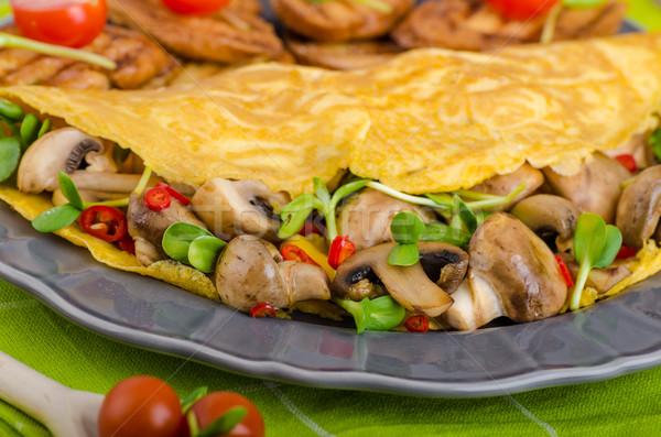 Vegetarian omelet, eat clean Stock photo © Peteer