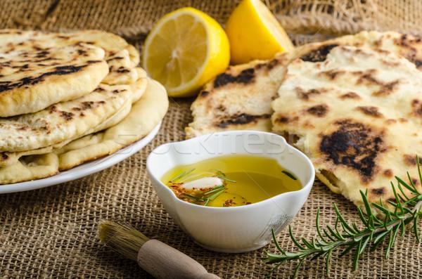 Indiano pão alecrim alho azeite comida Foto stock © Peteer