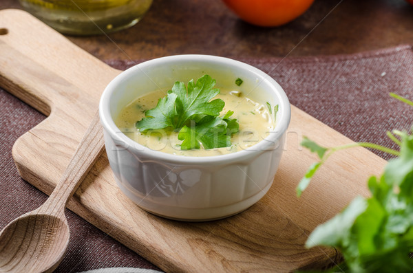 Homamade tartar mayo sauce Stock photo © Peteer