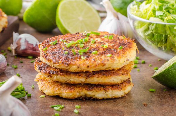 Potato pancakes with garlic Stock photo © Peteer