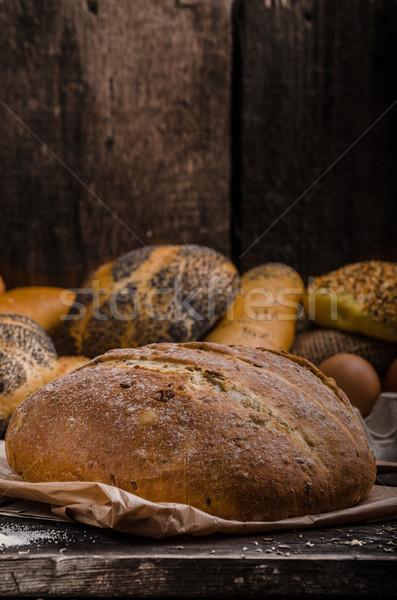 домашний хлеб продукт фото избирательный подход Сток-фото © Peteer