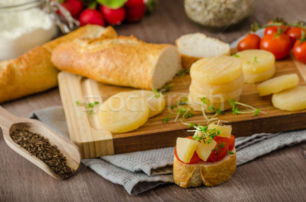 Czech smelly cheese - Olomoucke tvaruzky Stock photo © Peteer