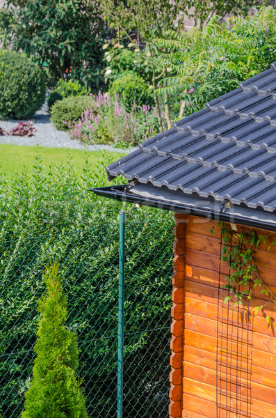 Stock photo: Garden house roof
