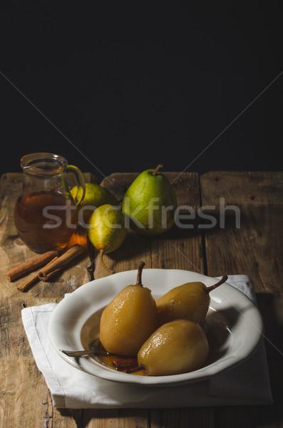 Peren thee kaneel heerlijk traditioneel rustiek Stockfoto © Peteer