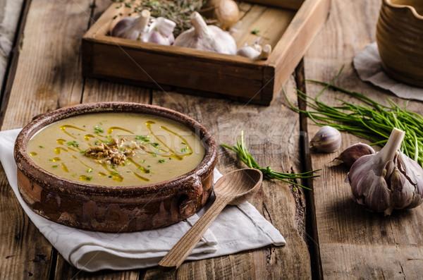 Krem zupa pietruszka korzeń oliwy Zdjęcia stock © Peteer