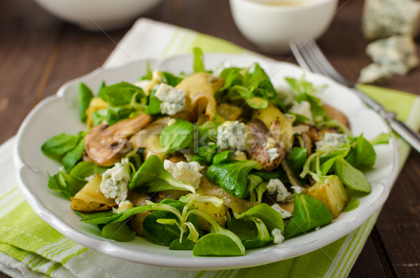 Fresh salad with vegetable and blue cheese Stock photo © Peteer