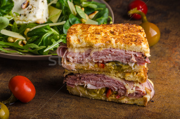 French cheese meat toast Stock photo © Peteer