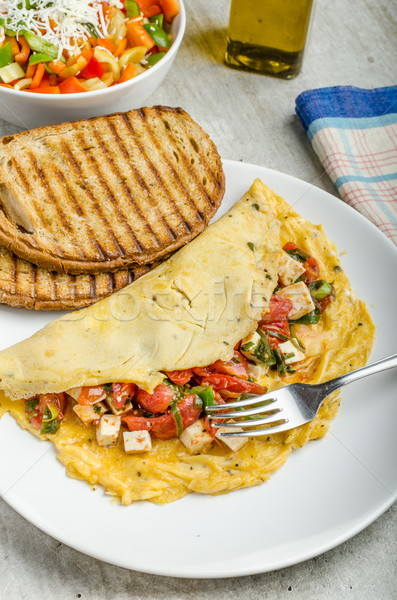 Mediterranean-Style Omlette Stock photo © Peteer