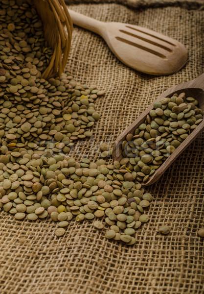 Stock fotó: Lencse · bio · termék · stock · fotó · étel