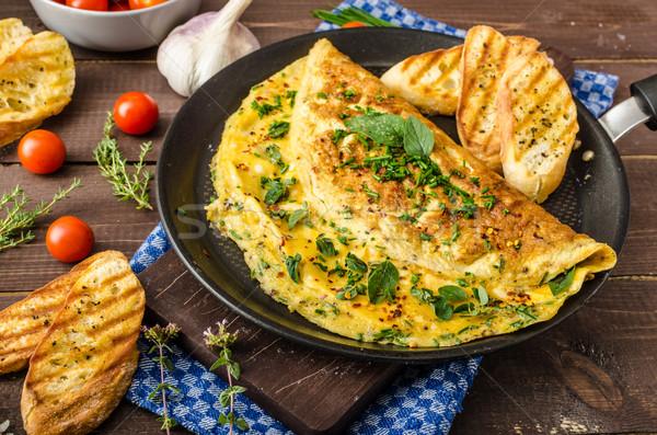 Hierba cebollino orégano chile ajo Foto stock © Peteer