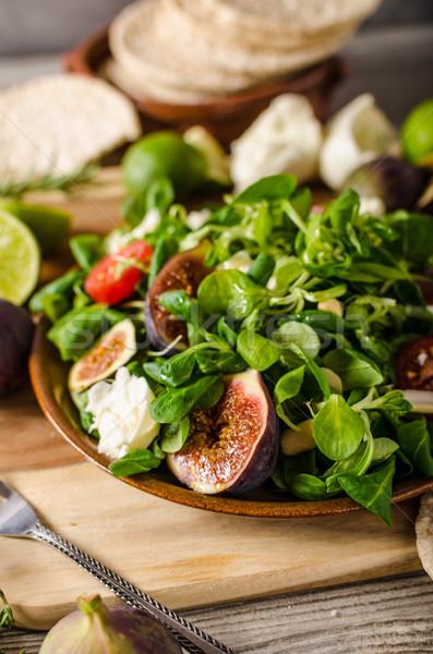 ストックフォト: サラダ · トマト · 子羊 · レタス · チーズ