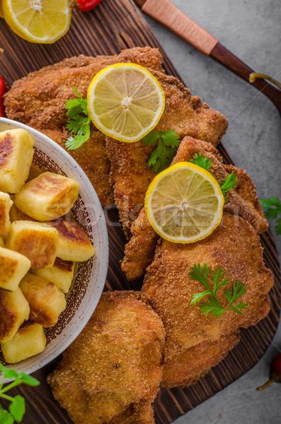 Eredeti citrom sült ízletes étel mini Stock fotó © Peteer