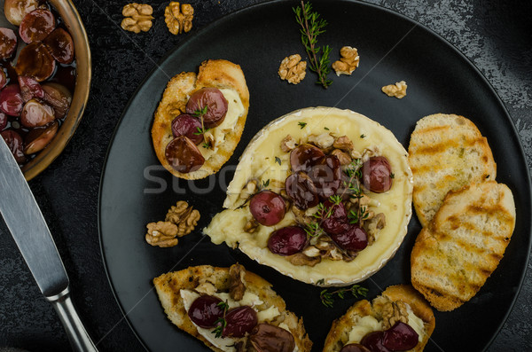 Сток-фото: орехи · виноград · вкусный · хрустящий