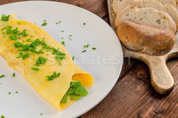 Fresh french omelette Stock photo © Peteer