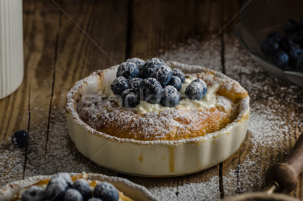 Stock photo: Rustic style cheesecake