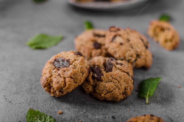 Chocolate chips cookies Stock photo © Peteer