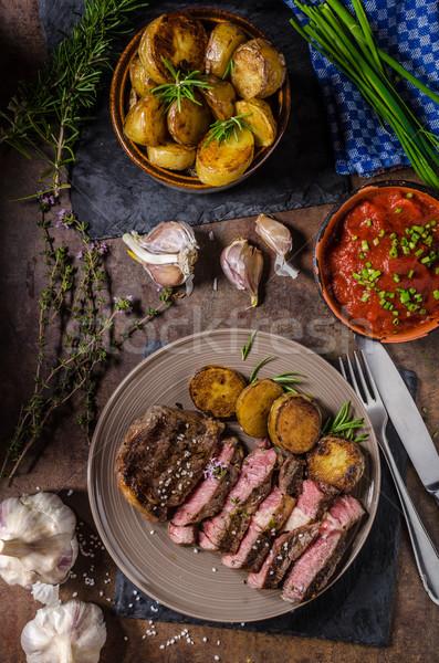 Stock photo: Rib eye steak