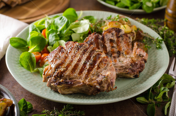 Grilled pork chops Stock photo © Peteer