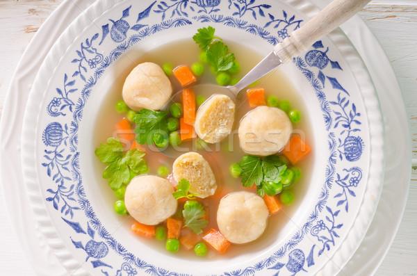 春 チキンスープ 麺 野菜 トースト 食品 ストックフォト © Peteer