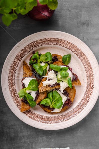 食品 トースト タマネギ バイオ ストックフォト © Peteer