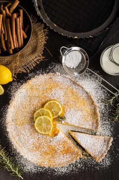 Torta finom desszert hely szöveg klasszikus Stock fotó © Peteer