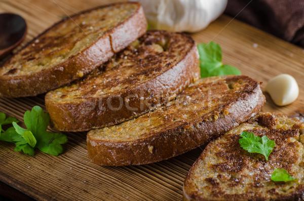 Сток-фото: французский · чеснока · тоста · продовольствие · фотографии · bio